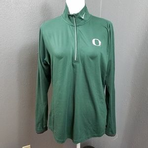 Nike DRI FIT University Of Oregon 1/4 Zip Jacket